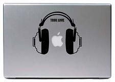 "Apple MacBook Air Pro 13"" DJ KOPFHÖRER Music True Love Sticker Skin Decal 131"