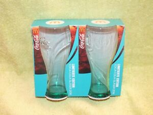 2 x Mc Donalds Coca Cola Glas 2018 Türkis  Limited Edition