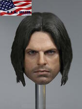 1/6 Captain America Winter Soldier Bucky Barnes Head For Hot Toys Phicen ❶USA❶