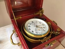 Ship's Marine chronometer 6 MX Poljot Kirova 1 MChZ 21107 1984 detent escapement