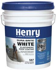 Henry Elastomeric Roof Coating 4.75 Gal. 587 100% Acrylic Dura-Brite White