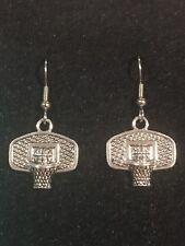 BASKETBALL Earrings Stainless Hook New Basket Ball Hoop Net