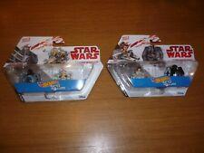 2 x Star Wars Hot Wheels Battle Rollers Twin Sets