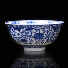 Chinese old Porcelain Bowl Of Hand-painted Lotus pattern / Qing QianLong b01