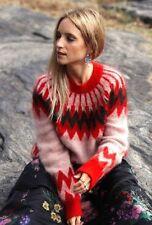 Erdem x h&m Rojo mohair-blend Estampado Jersey talla pequeña
