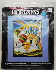 Hot Air Balloons Counted Cross Stitch Always Chasing Rainbows CS14 Vintage