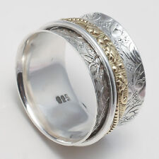 925 Sterling Silver Meditation Ring Statement Ring Spinner Ring All Size aa2673