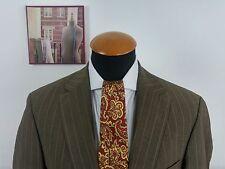 Para Hombre Hugo Boss 40R Blazer Abrigo Chaqueta de Lana Mohair Pinstripe Sport Marrón Gr. 50