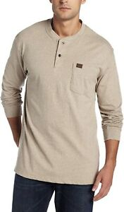 mens wrangler riggs workwear long sleeves shirt color Oatmeal Brand New Size L