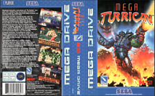 Mega Turrican UK PAL  Sega Megadrive Replacement Box Art Sleeve/ Insert.Repro.