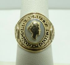 Nice 14K Y Gold Baroque Pearl Concord Beauty School Ring Size 5 6.2 Grams D8495