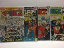Prez : First Teen President #1-4 (F) Complete Series Set - 1973 DC Comics