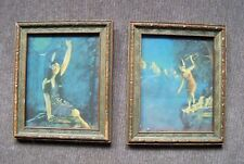 1920's/30's Vintage Art Small Wood Framed Indian Maiden / Woman Prints
