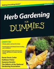 Herb Gardening for Dummies, Paperback by Cutler, Karan Davis; Fisher, Kathlee...
