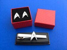 Star Trek Tie Clip & Cufflink Set Star Trek Symbol Cuff Links (New)