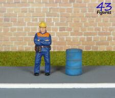 Oil Barrel 1:43 Resin Blue