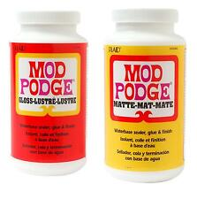 Mod Podge (24,31 €/L) 473 ml ADHESIVO, barniz para transferencia de fotos mate o brillo