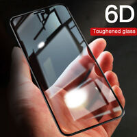 9H 6D Tempered Glass Full Cover Screen Protector Film For iPhone X 7 8 6 Plus