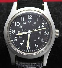1988 Hamilton H3 US Military Mens Watch MIL-W-46374D w/ Band - Vintage
