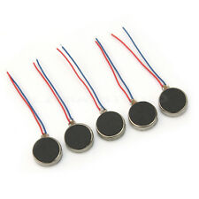 5x New 10mm Dia Flat Button Type 3V-4.5V Micro Vibrator Motor F Cellphone 0.06A