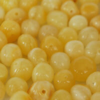 Baltic amber loose beads 10 gr yellow natural