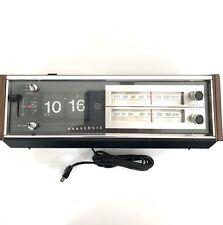 Vintage Wood Grain Panasonic Rc 6530 Amfm Flip Clock Radio