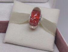 New w/Box Pandora Red Twinkle Glass Murano Bead Charm 796366 Christmas