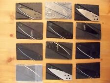 Lot of 12 Credit Card Knife; Wallet Pocket Survival Tool CardSharp; #195