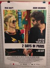 Original Movie Poster 2 Days In Paris Double Sided 27x40