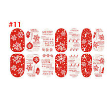 Christmas Nail Art Stickers 3D Design Manicure Tips Decals Wraps Decorate #11