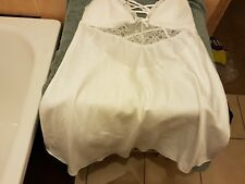 Ann Summers Rosie Silk & Lace Chemise, Ivory Size  20 NWT