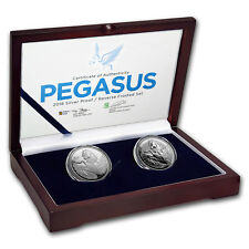 2018 BVI 2-Coin Silver Pegasus Proof/Reverse Frosted Set - SKU#155968