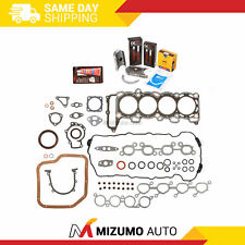 Full Gasket Set Bearings Rings Fit 91-94 Nissan NX Sentra Infiniti 2.0 SR20DE