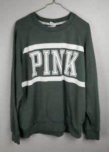 Victorias Secret Pink Sweat Shirt Green Size M