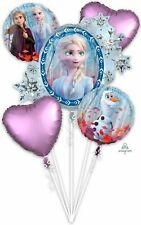 Movie FROZEN 2 Foil Balloon Bouquet ~ Girls Birthday Party Decorations Anna Elsa