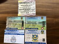 5 x PORTSMOUTH FC MATCH TICKETS
