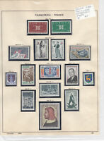 France 1964 MM+Used Stamps On 2 Pages Ref: R6795