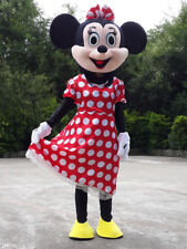 Good!! Adult Minnie mouse Costume Character Cartoon Mascot Outfit New Disney