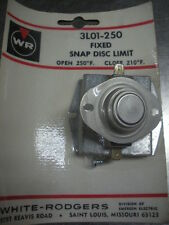 White Rodgers fixed snap disc high limit 3L01-250 2 available thermostat