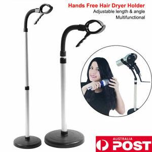 Hands Free Hair Dryer Stand Holder360° Adjustable Height Floor Bracket Stainless