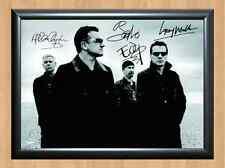 U2 Bono The Edge Adam Clayton Larry Mullen Signed Autographed A4 Print Photo CD