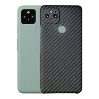 Aramid Fiber Matte Back Cover Case for Google Pixel 5 128G Unlocked Mobile Phone