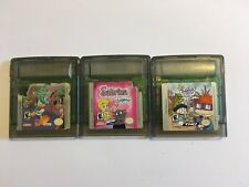Lot of 3 Game Boy Color Games Sabrina, Goin Quackers and Rug Rats in Paris