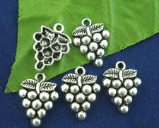10 Tibetan Silver Grape Fruit Charms ~ Jewellery bookmarks keyring Wine winery