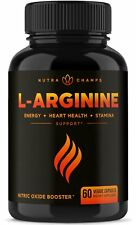 Premium L Arginine 1500mg Nitric Oxide Supplement By Nutra Champs