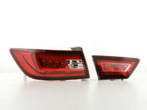 RENAULT CLIO MK4 CLEAR LED LIGHTBAR TAIL LIGHTS 2012+ MODEL