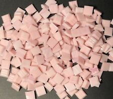 "100 Mosaic Tiles 3/8"" Pink Vetricco Italian Glass Tiles Supplies #04"