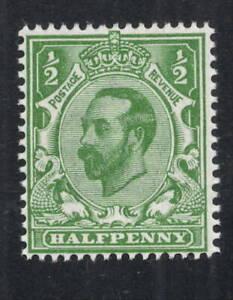 GV - SG322. 1/2d green Downey Head. Superb unmounted mint. FREEPOST!