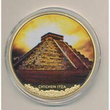 Médaille 70mm - Chichen Itza - Mayas  - cuivre doré
