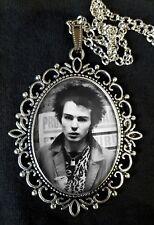 SID VICIOUS Large Antique Silver Pendant Necklace Music CD Icon Punk Sex Pistols